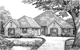 Traditional House Plan 66001 Elevation