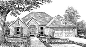 European, Tudor House Plan 66002 with 3 Beds, 2 Baths, 2 Car Garage Elevation