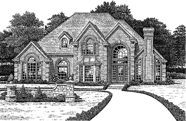 European French Country House Plan 66003 Elevation