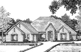 European House Plan 66004 Elevation