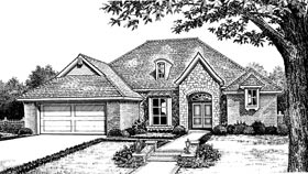 Tudor House Plan 66006 Elevation