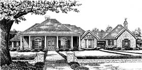 Colonial Southern House Plan 66007 Elevation