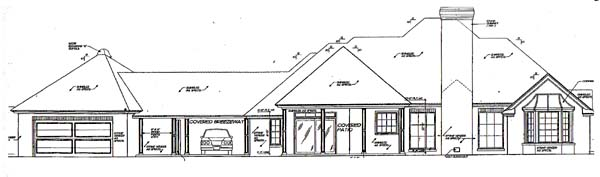 Colonial Southern House Plan 66007 Rear Elevation