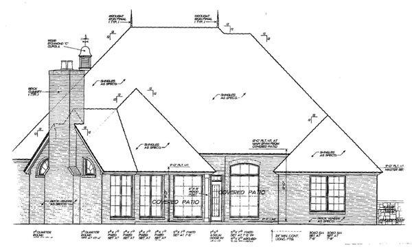 Tudor Victorian House Plan 66009 Rear Elevation