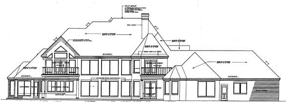 European French Country House Plan 66010 Rear Elevation
