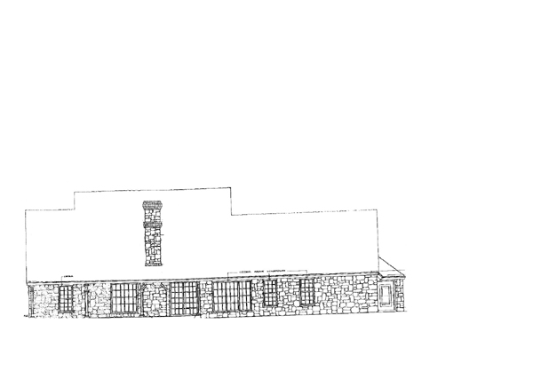 Country , One-Story , Rear Elevation of Plan 66012