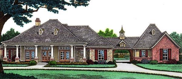 European Tudor House Plan 66013 Elevation