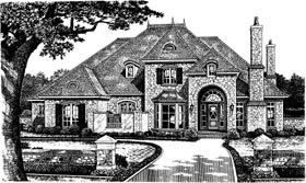 European French Country Victorian House Plan 66014 Elevation