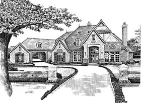 European French Country Tudor Victorian House Plan 66015 Elevation