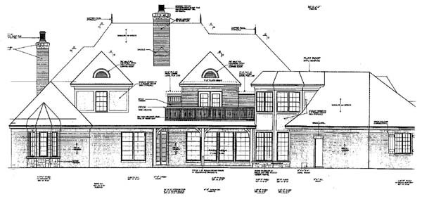 European French Country Tudor Victorian House Plan 66015 Rear Elevation