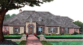 House Plan 66017 Elevation