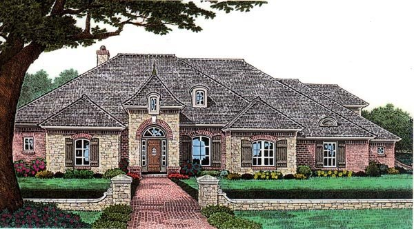 House Plan 66017 Elevation
