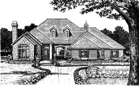 European House Plan 66024 Elevation