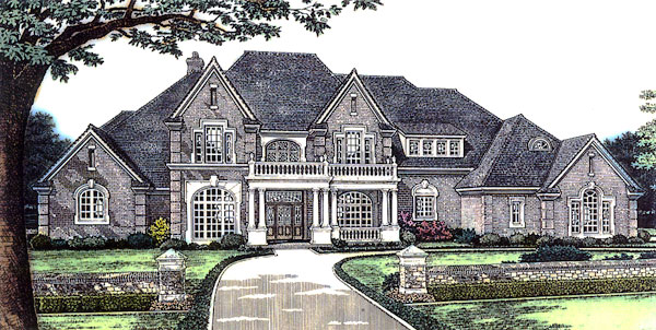 House plan 66026 order code fb101 at for Historic tudor house plans
