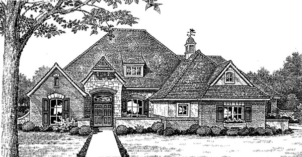 European Tudor House Plan 66027 Elevation