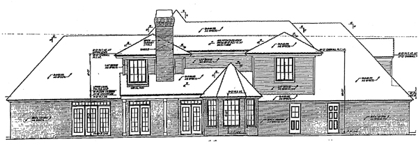 French Country Traditional House Plan 66029 Rear Elevation