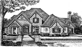House Plan 66030 | European French Country Tudor Style Plan with 3537 Sq Ft, 3 Bedrooms, 4 Bathrooms, 2 Car Garage Elevation