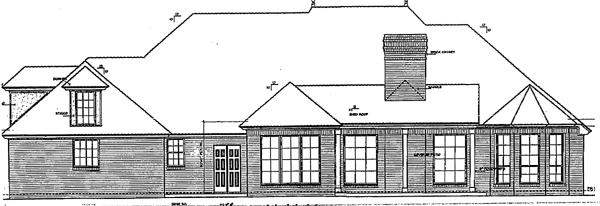 European Traditional House Plan 66031 Rear Elevation