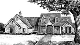 Colonial , Southern House Plan 66033 with 4 Beds, 3 Baths Elevation