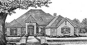 European House Plan 66037 Elevation