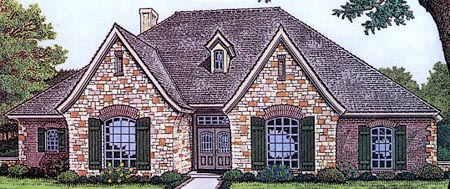 European Tudor House Plan 66039 Elevation