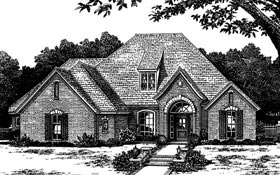 House Plan 66040 | European Style Plan with 2508 Sq Ft, 4 Bedrooms, 3 Bathrooms, 3 Car Garage Elevation