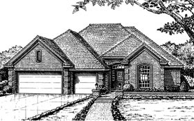 House Plan 66043 | Traditional Style Plan with 2518 Sq Ft, 4 Bedrooms, 3 Bathrooms, 3 Car Garage Elevation