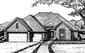Traditional , European House Plan 66047 with 4 Beds, 3 Baths, 3 Car Garage Elevation