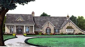 House Plan 66051 with 3 Beds, 2 Baths, 2 Car Garage Elevation