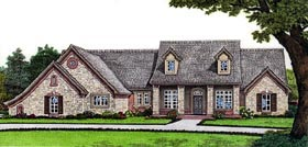 House Plan 66058 | Style Plan with 2402 Sq Ft, 4 Bedrooms, 3 Bathrooms, 3 Car Garage Elevation