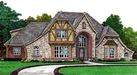 French Country House Plan 66063 with 4 Beds, 5 Baths, 3 Car Garage Elevation