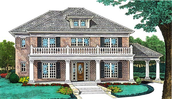European , French Country House Plan 66064 with 4 Beds, 4 Baths, 3 Car Garage Elevation