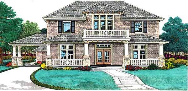 European House Plan 66065 Elevation