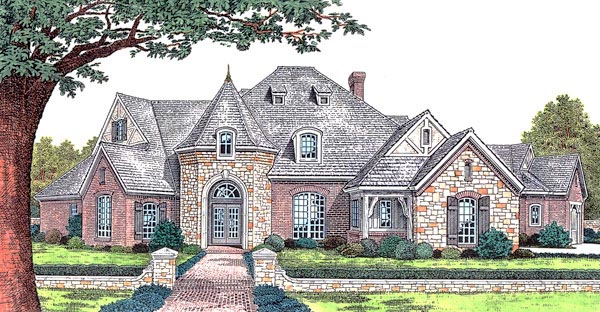 European French Country Tudor Victorian House Plan 66067 Elevation