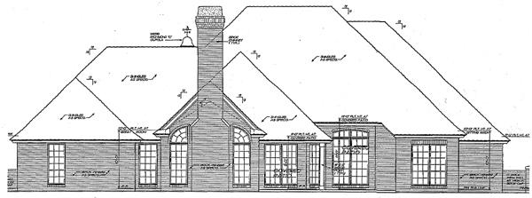 European Tudor House Plan 66071 Rear Elevation