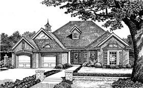 Traditional House Plan 66084 with 3 Beds, 2 Baths, 2 Car Garage Elevation
