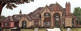 French Country , Tudor House Plan 66086 with 5 Beds, 7 Baths, 2 Car Garage Elevation