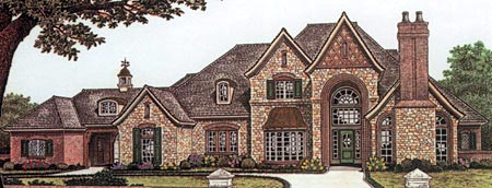 French Country Tudor House Plan 66086 Elevation