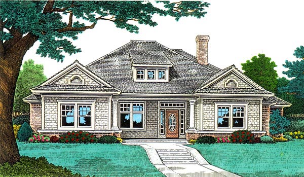 Bungalow House Plan 66088 Elevation
