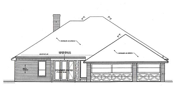 Bungalow House Plan 66088 Rear Elevation