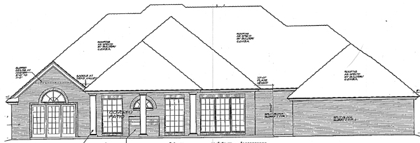 European Traditional House Plan 66091 Rear Elevation