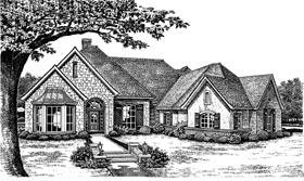 European Traditional Tudor House Plan 66093 Elevation