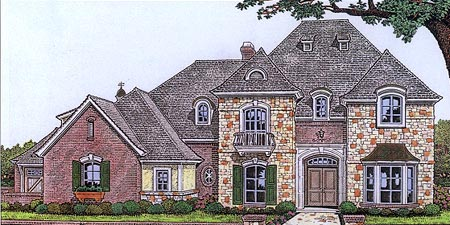 French Country Tudor House Plan 66097 Elevation