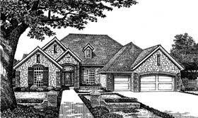 Traditional House Plan 66098 with 4 Beds, 3 Baths, 3 Car Garage Elevation