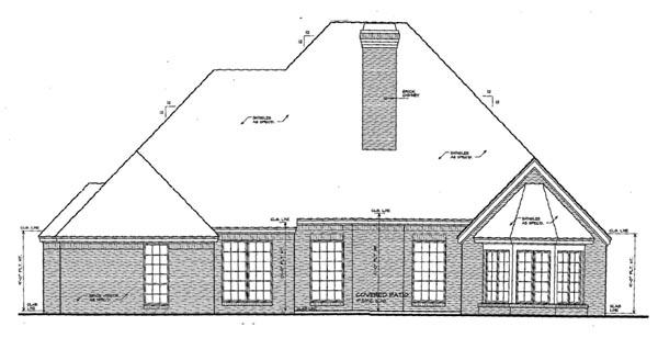 European Tudor House Plan 66102 Rear Elevation