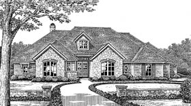 European House Plan 66106 Elevation