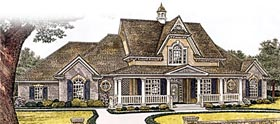 Country Farmhouse Victorian House Plan 66109 Elevation