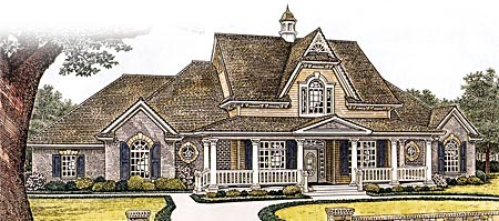 Country, Farmhouse, Victorian House Plan 66109 with 4 Beds, 4 Baths, 3 Car Garage Elevation