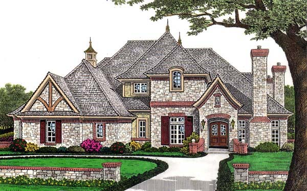 House plan 66110 at for French country european house plans