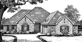 European Traditional House Plan 66113 Elevation